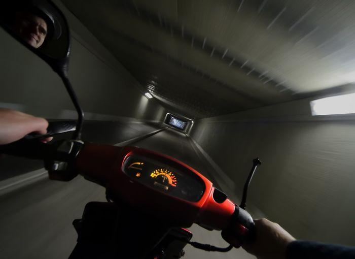 Selfie In Tunnel Underneath Wellington International Airport, New Zealand