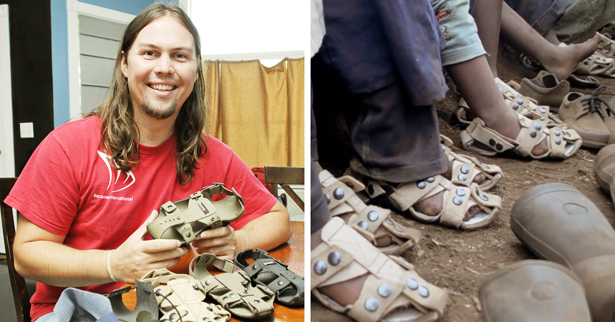 Shoes That Grow: Guy Invents Sandals That'll Grow 5 Sizes In 5 Years To Help Millions Of Poor Children