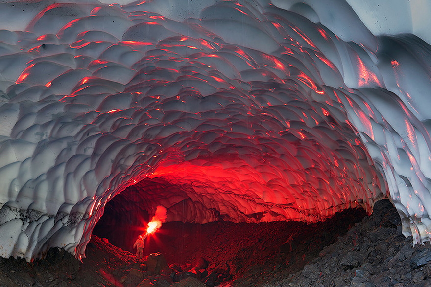 Ice Cave Near The Mutnovsky Volcano, Russia