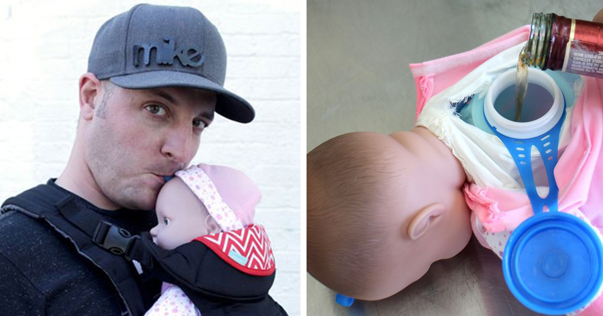 Baby Flask: How To Turn A Baby Doll Into A Beverage Container