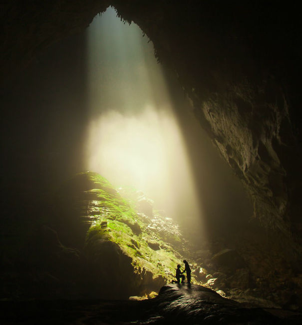Inside the world's biggest cave, I dropped to one knee and asked my girlfriend of 6 years, Alesha, to marry me