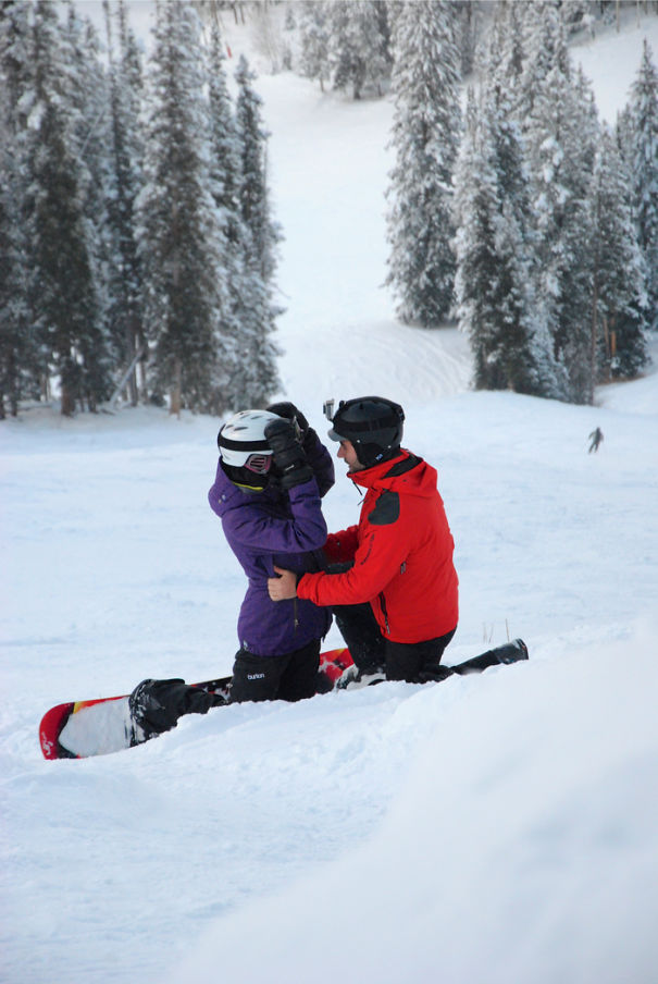 Proposing While Snowboarding