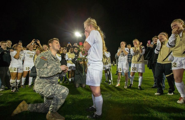 Proposing At Her Soccer Match During the biggest game of the season