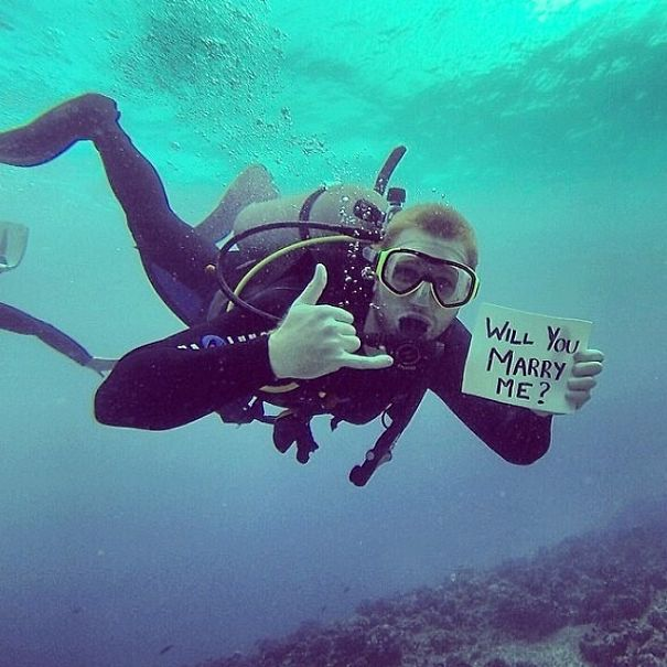 Proposing When Diving