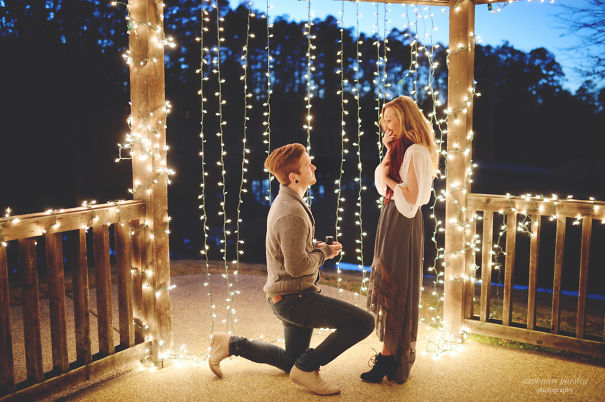 Proposing Under Magical String Lights