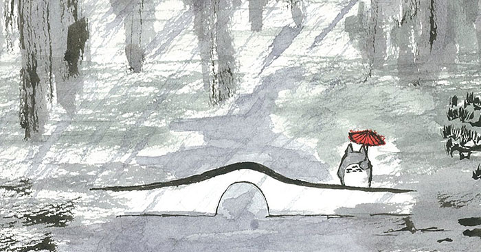 Childhood Companions In Chinese Ink Paintings