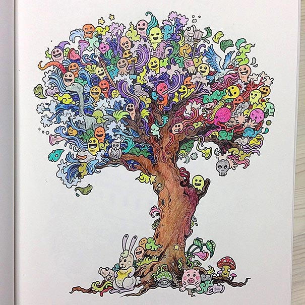 Coloring Book Adult Doodle Invasion Kerby Rosanes 10