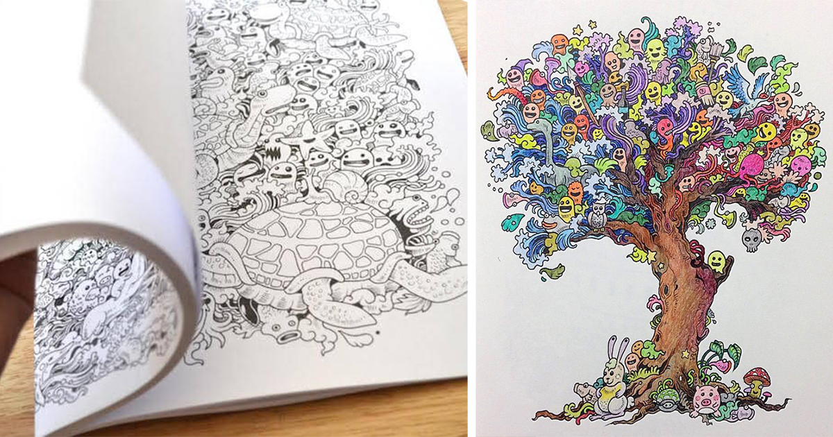 Beroemd Coloring Book For Adults Titled 'Doodle Invasion' by Kerby Rosanes @KG48