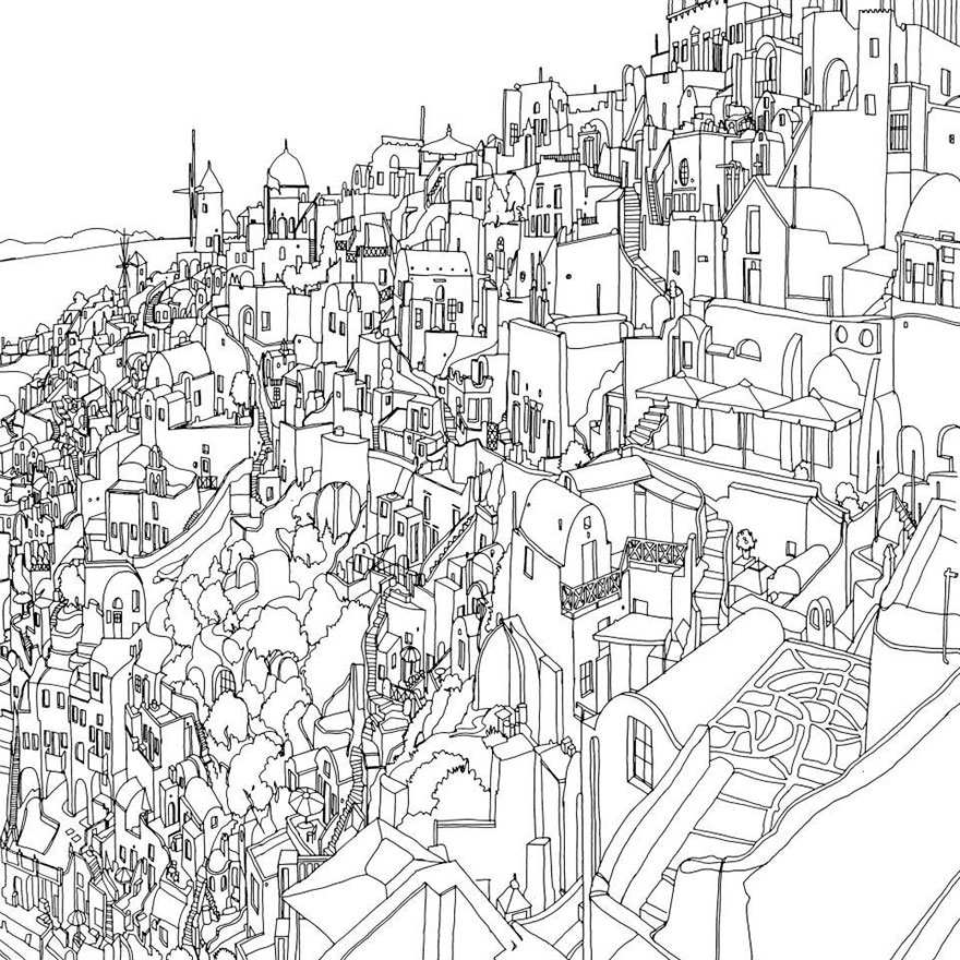 coloring book adults fantastic cities steve mcdonald 25 - Detailed Coloring Books