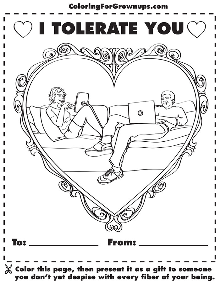 Coloring Book For Grown Ups That Mocks Adult Life II