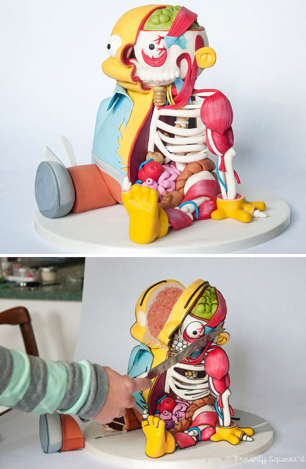 Ralph Wiggum From The Simpsons Cut-out Cake