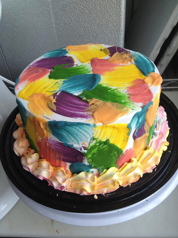 A Cake For A Painting Party