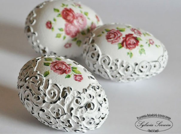 Shabby Chic Egg Shell Art