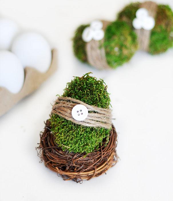 Moss-Covered Easter Eggs