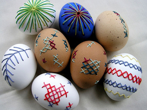 Drill A Drained Egg And Embroider It