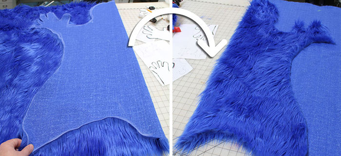 DIY Cookie Monster Fur Rug With Cookie Pillows