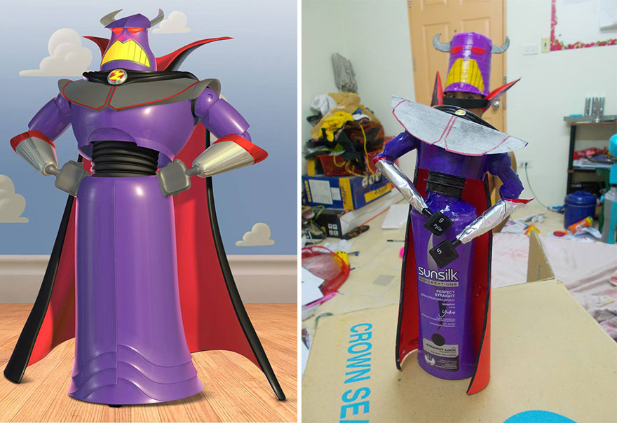 Cheap cosplay guy creates more low cost costumes from household 18 emperor zurg solutioingenieria Gallery