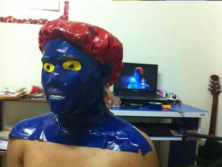 Cheap cosplay guy creates more low cost costumes from household mystique solutioingenieria Gallery