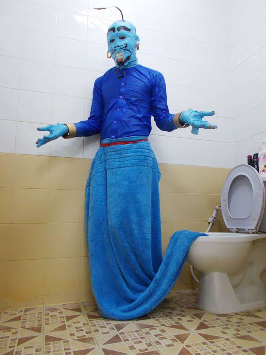 Genie & Cheap Cosplay Guy Creates More Low-Cost Costumes From Household ...