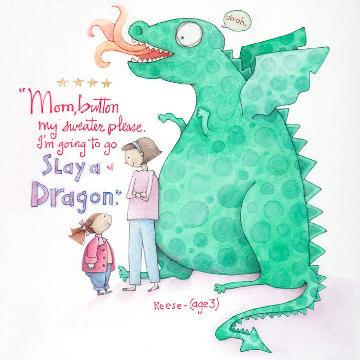 Artist Surprises Parents By Illustrating Their Kid's Quotes