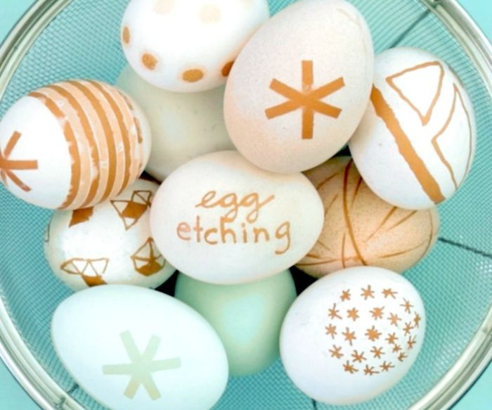 Egg Etching For Easter