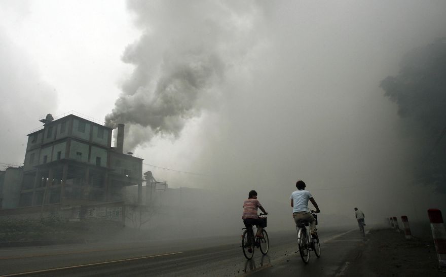 Pollution From A Factory In Yutian, 100km East Of Beijing