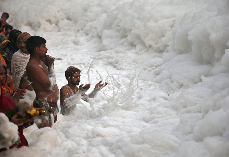 Terrible Pollution In India's Rivers