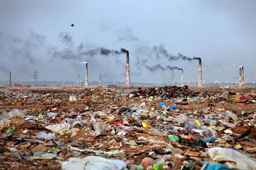Landscape Full Of Trash In Bangladesh