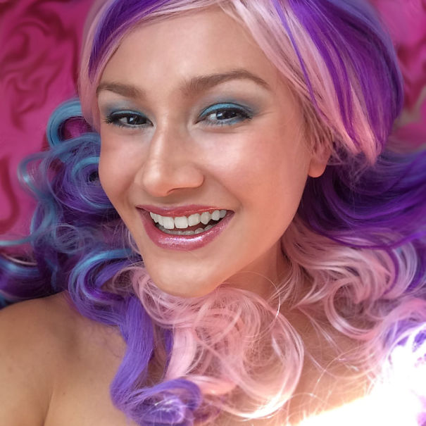 Purple,pink, Blue And A Smile :)