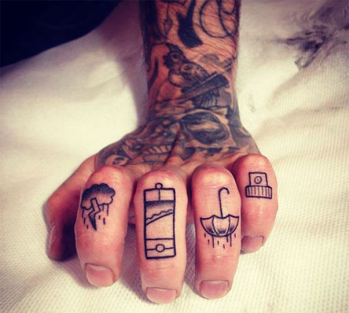 Favorite Things Finger Tattoos