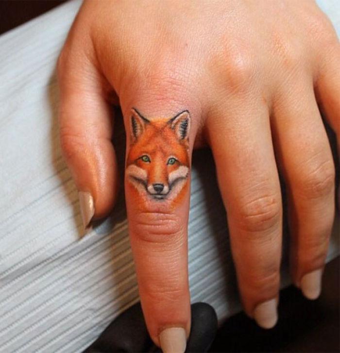 Fox Finger Tattoo