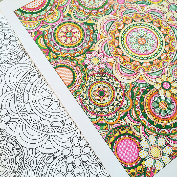 Flower Designs: I Create Coloring Books To Stimulate Creativity