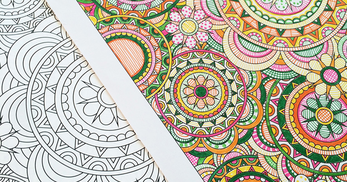 Flower Designs: I Create Coloring Books To Stimulate Creativity ...