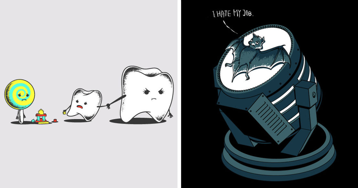 365-Day Challenge: I Drew One Funny T-shirt Design A Day