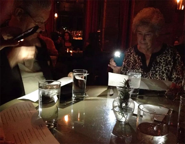 Took The Parents To A Fancy Restaurant With Mood Lighting For My Graduation