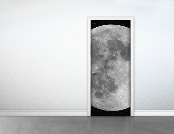 Moon Door Sticker