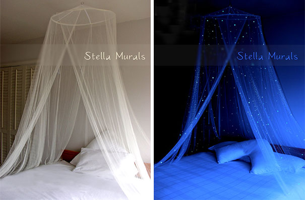 Glow In The Dark Starry Bed Canopy
