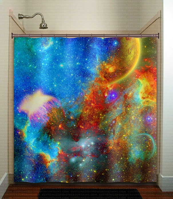 Nebula Galactic Shower Curtain