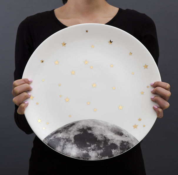 Moon And Stars Plate