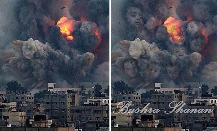 Palestinian: Smoke From Israeli Rocket.