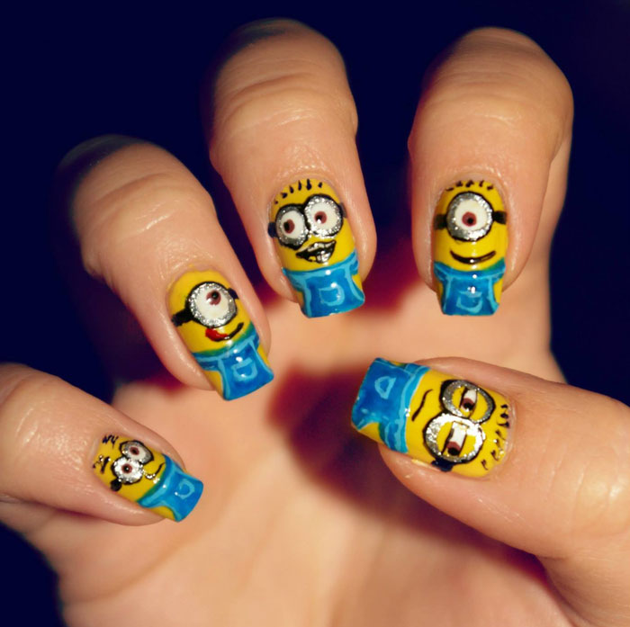 I Paint My Nails With Favorite Cartoons, Movies And Snacks