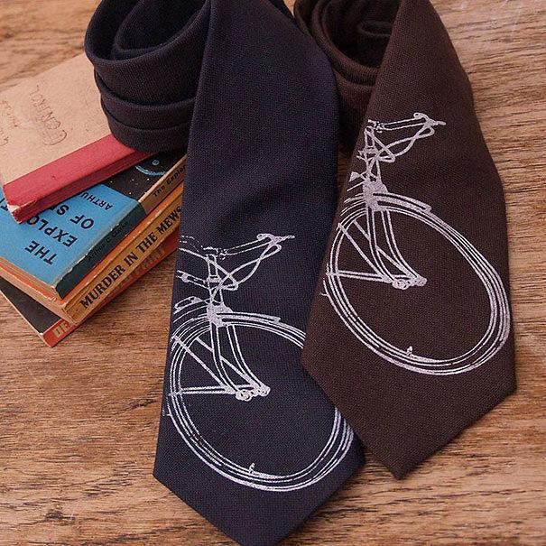Wool Bike Print Tie
