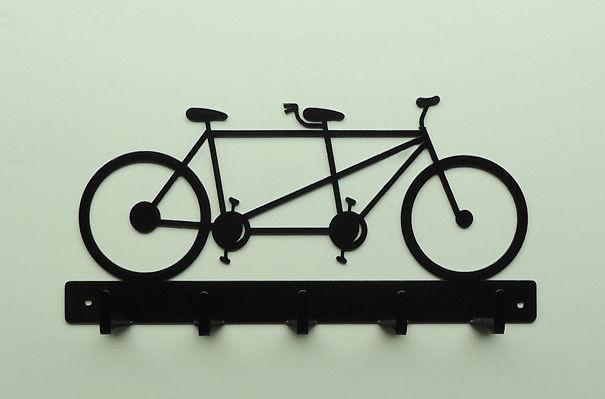 Bicycle Metal Key Rack