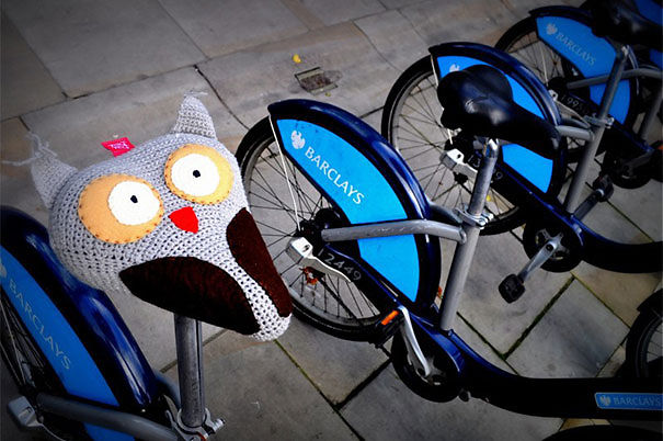 Crocheted Owl Saddle Cover