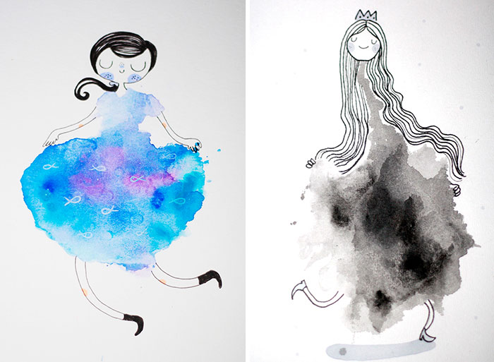 I Make Girls From Blots Of Watercolor