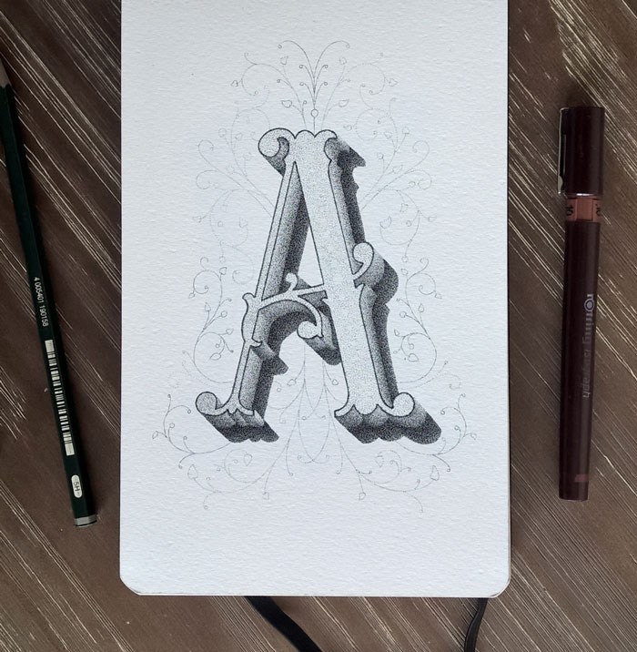 The Creative Alphabet Made With Millions Of Dots