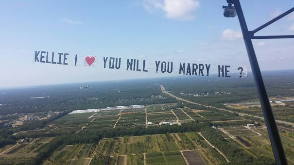 Midair Proposal Over Long Island. Photo From The Soon To Be Bride's View Of The Proposal!