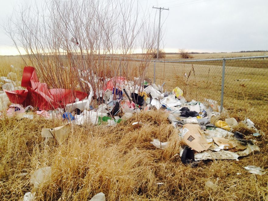 Landfill Perimeter 2 Days After Being Cleaned