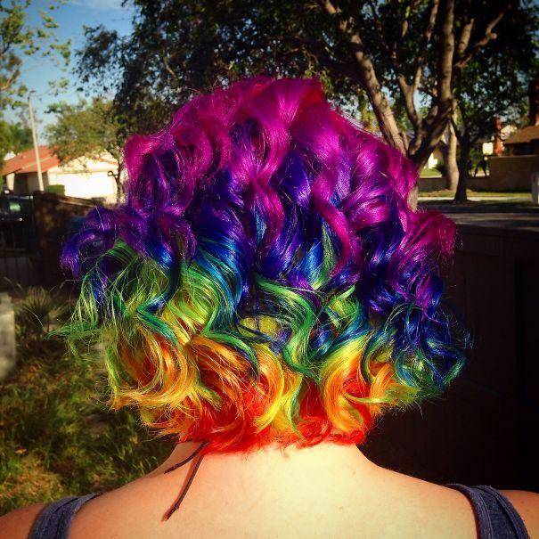 My Rainbow Hair. Instagram:badwolfjen