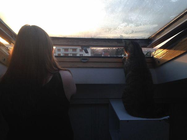Watching Sunrise On Paris :)